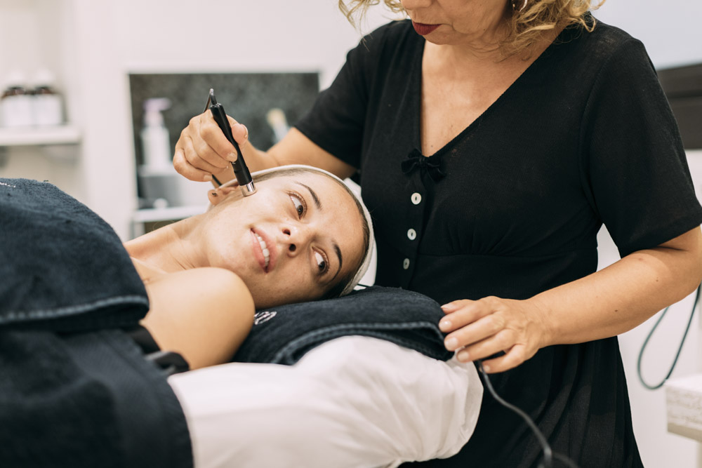 Commercial photographs in a beauty salon