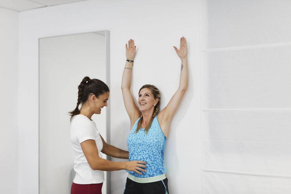 Commercial pictures of a physical therapist