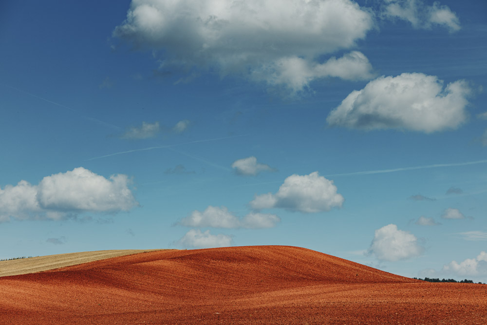 Minimal Landscape with a blue sky