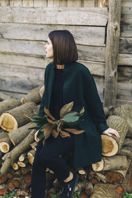 woman portrait with plants
