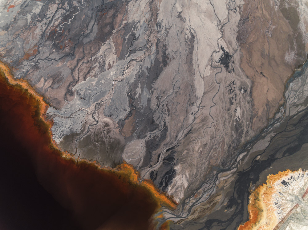 Aerial picture of a abstract landscape