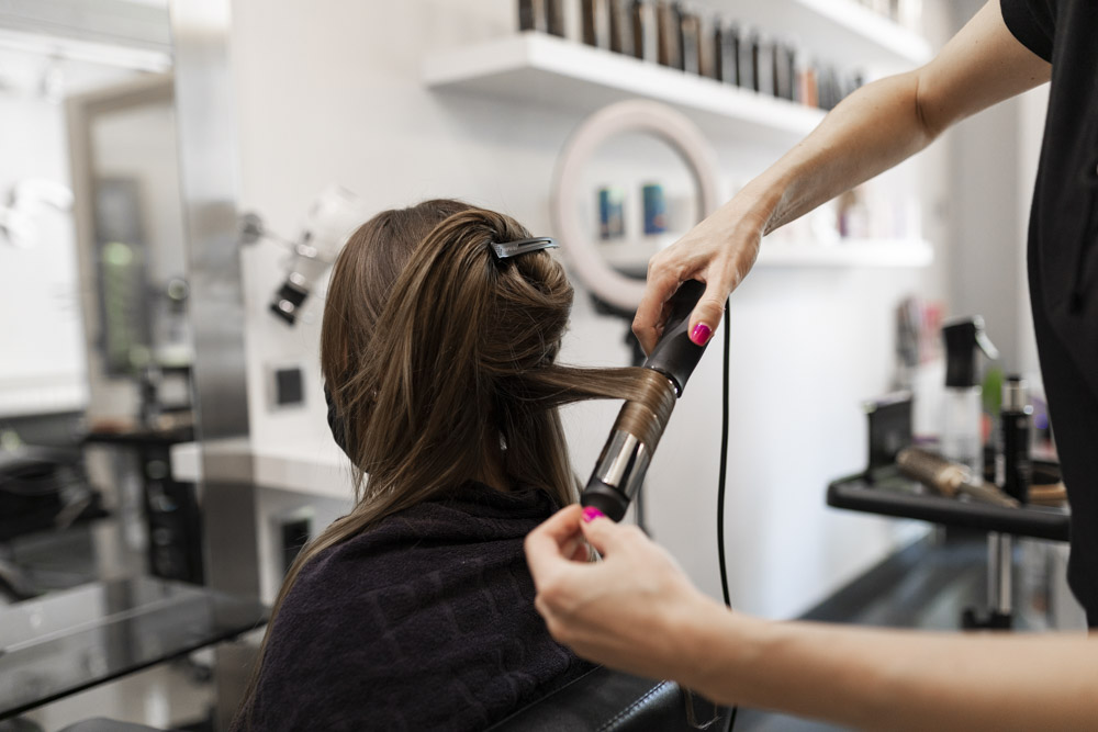 commercial photos of hairdresser